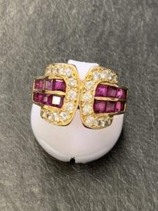 K18 ダイヤリング|貴金属高価買取のナニウル