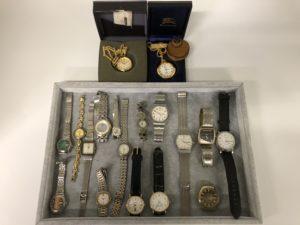 動かない時計でもお値段つけます